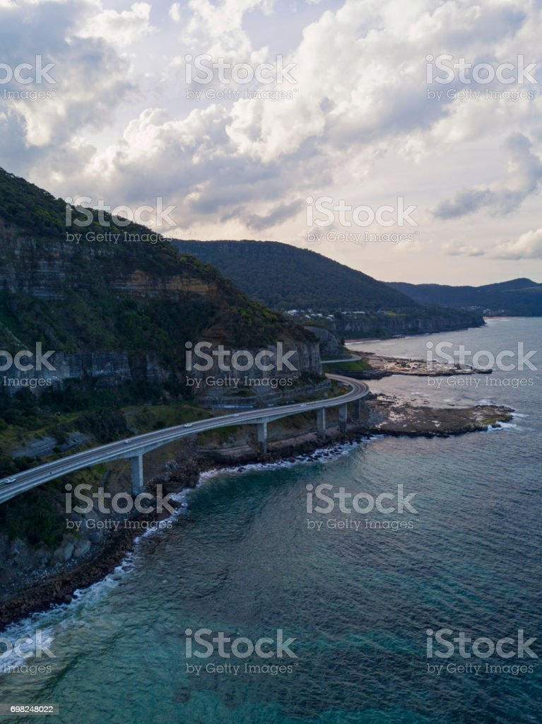 Sea Cliff Bridge stock photo