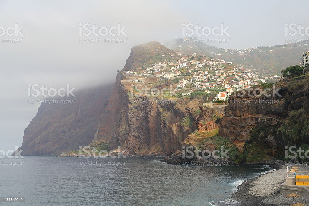 Sea cliff Cabo Gir?o - 580 meters highest in Portugal stock photo