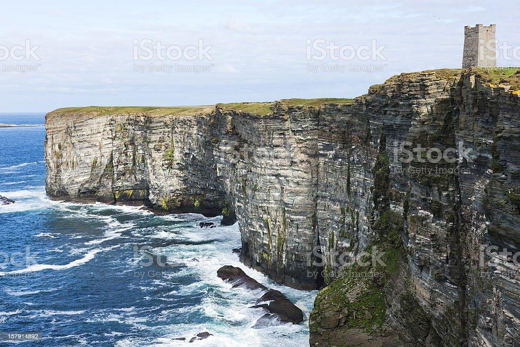 Sea Cliffs at Marwick Head, Orkney stock photo