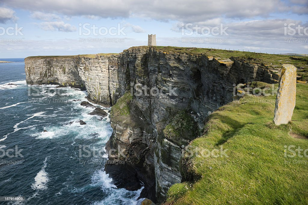 Sea Cliffs at Marwick Head, Orkney royalty-free stock photo