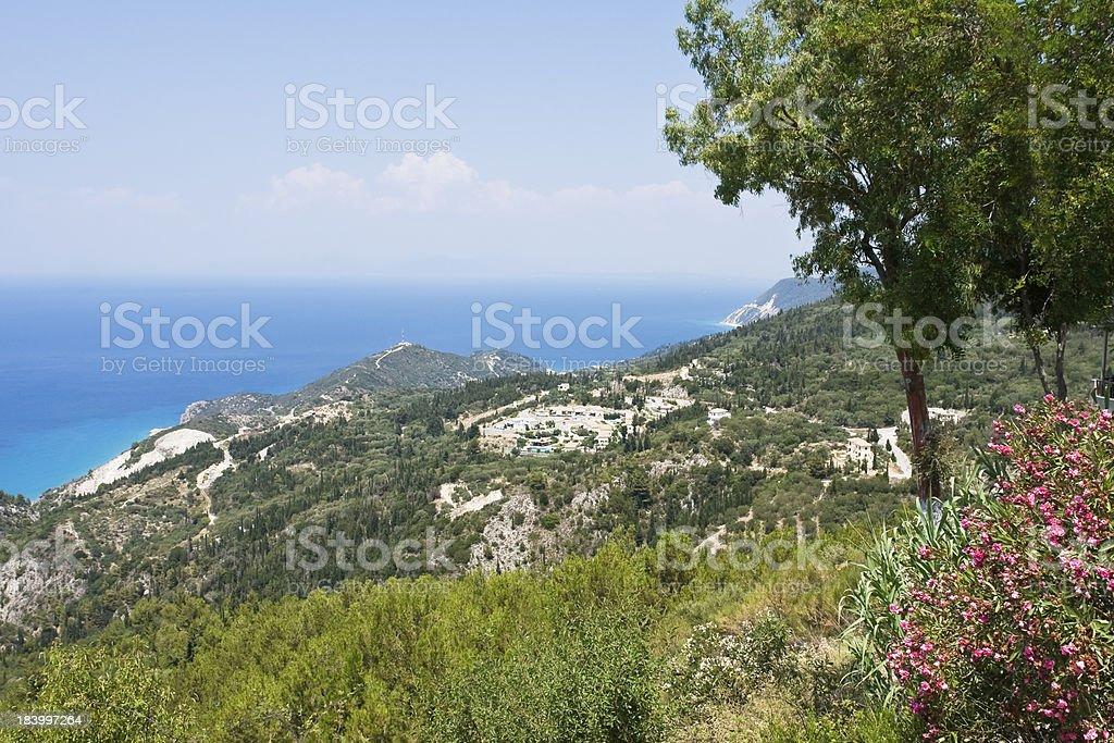 Sea coast of Lefkada, Greece royalty-free stock photo