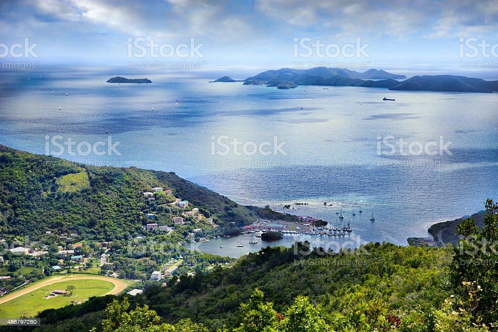 Sea Cow Bay, Tortola British Virgin Islands stock photo