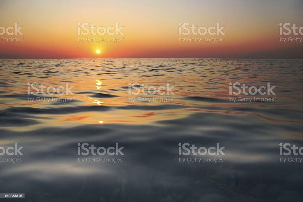 Sea dawn royalty-free stock photo