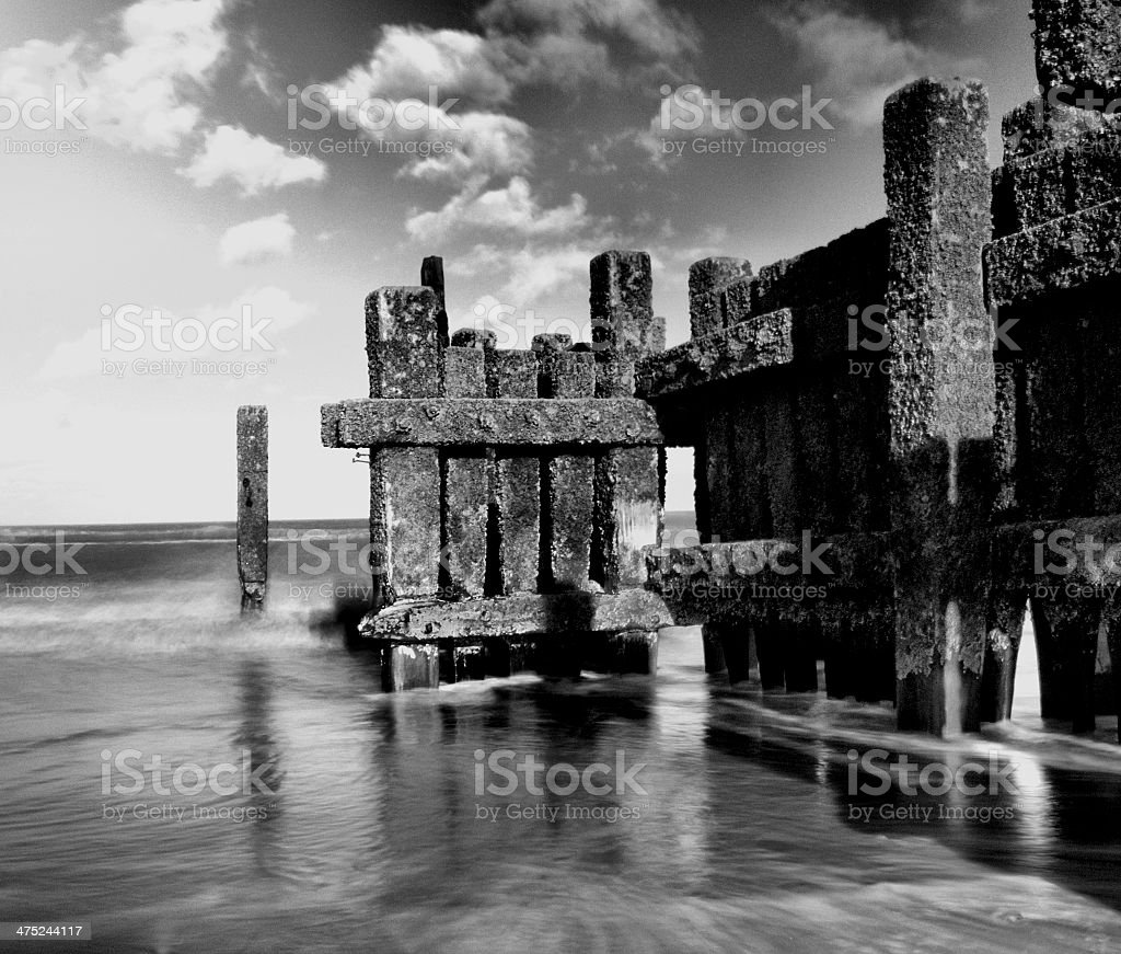 Sea Defence stock photo