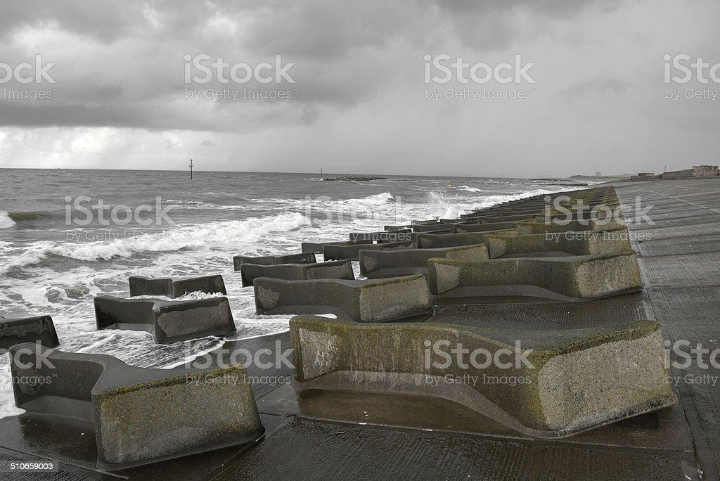 Sea Defence stock photo