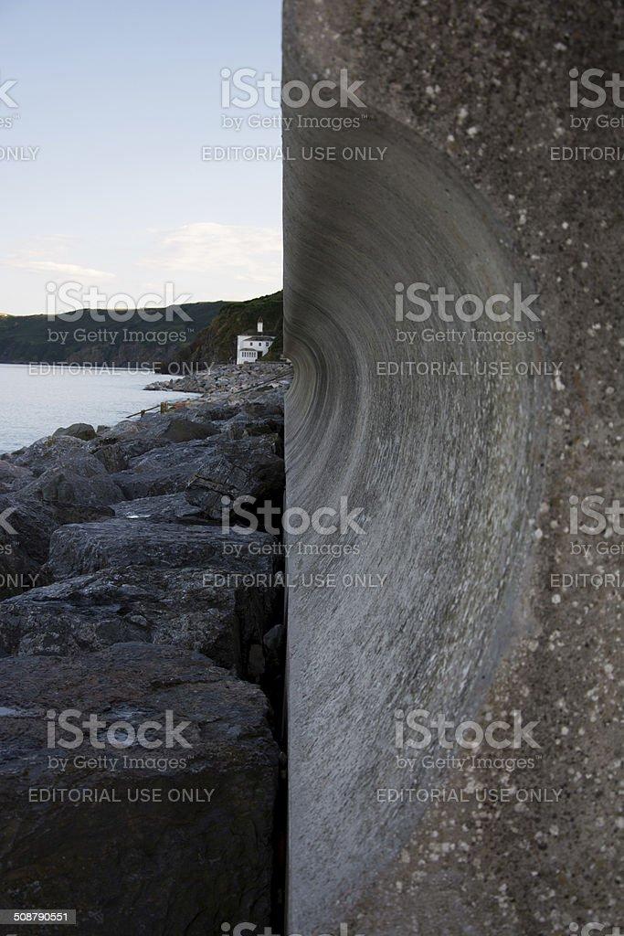 Sea Defences Devon stock photo