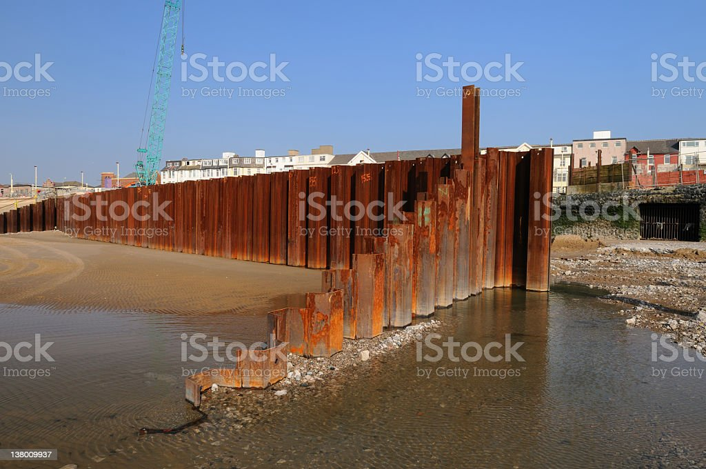 Sea Defense Construction stock photo