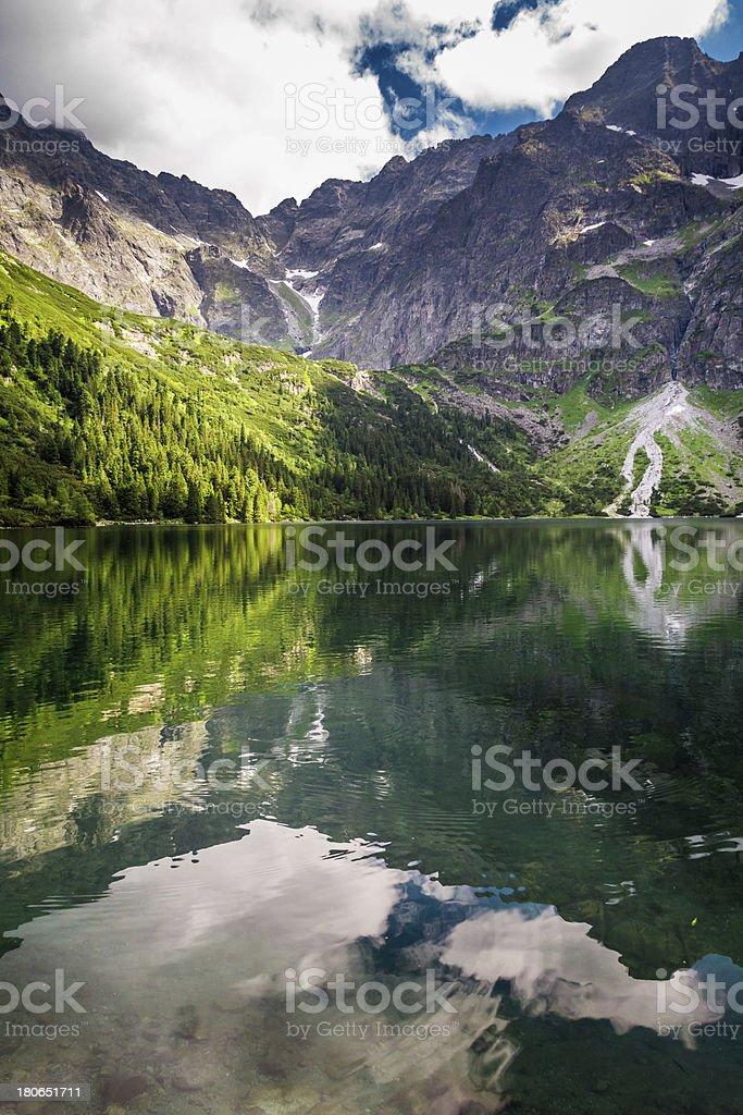 Sea eye Tatras in summer royalty-free stock photo