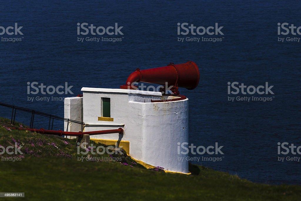 Brume marine corne photo libre de droits