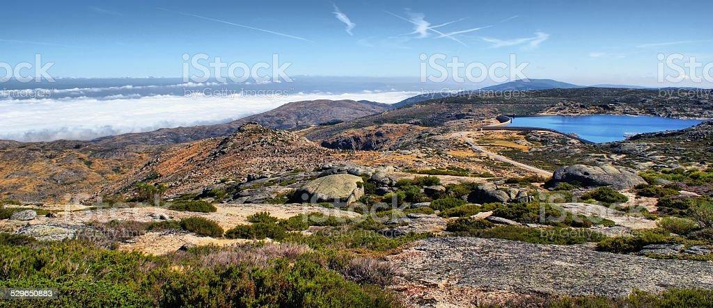 Sea fog in Serra da Estrela stock photo