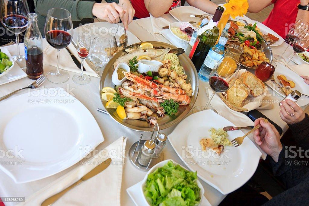 Sea food dining royalty-free stock photo
