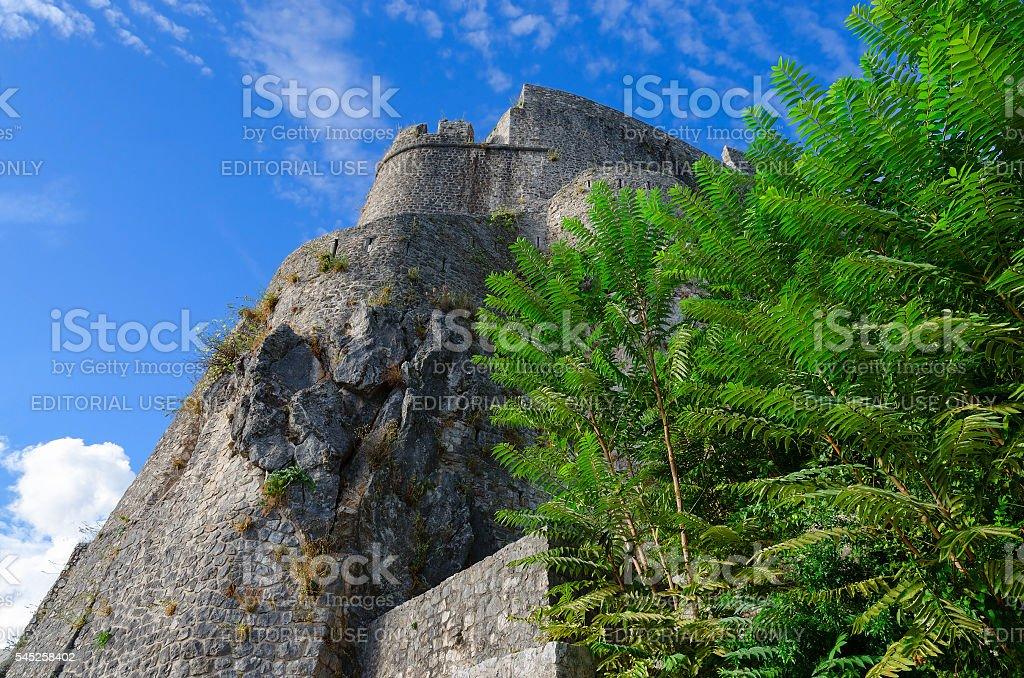 Sea Fortress (Forte Mare) against blue sky, Herceg Novi, Montenegro stock photo
