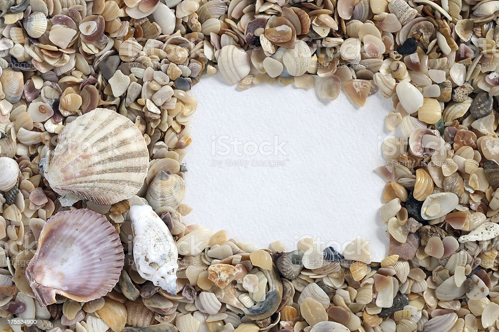 Sea  Frame royalty-free stock photo