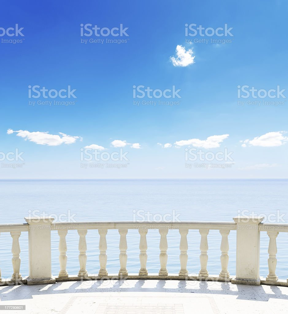 sea from a hotel terrace royalty-free stock photo