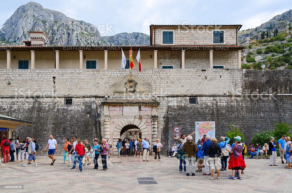 Sea (West) Gate (1555), Kotor, Montenegro stock photo