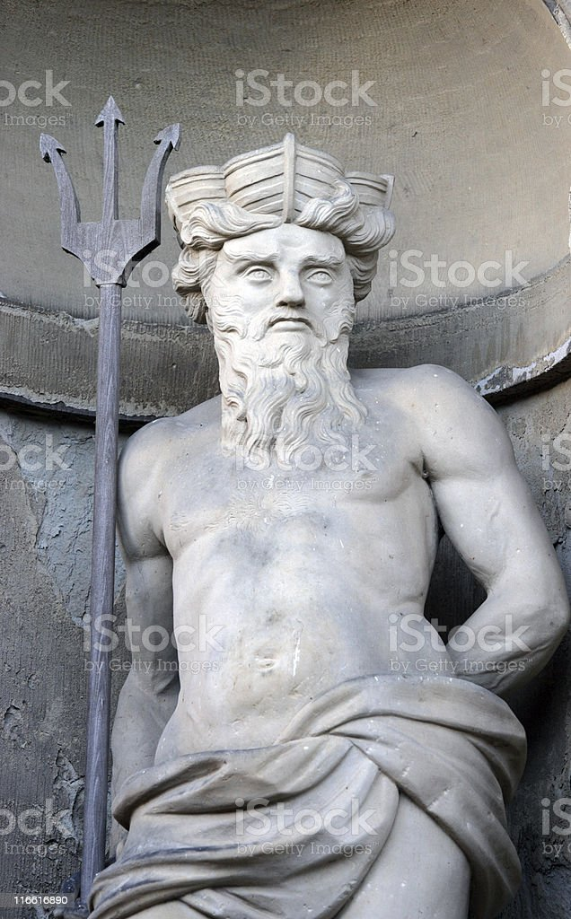 sea god Neptun. royalty-free stock photo