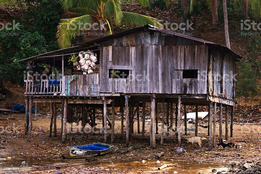 Sea Gypsy House stock photo