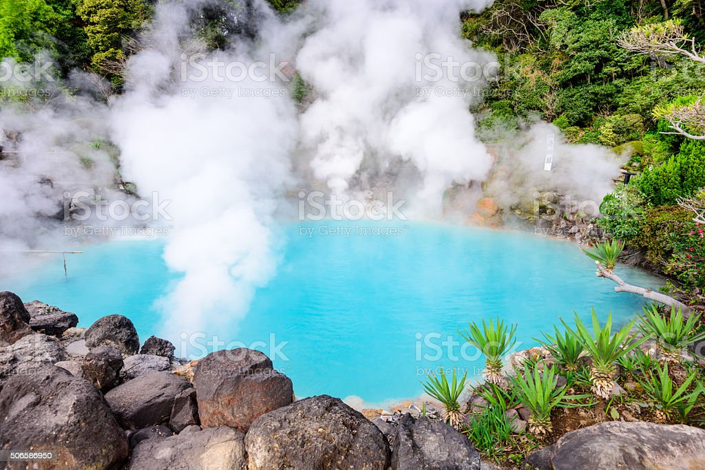 Sea 'Hell' Hot Spring of Japan stock photo