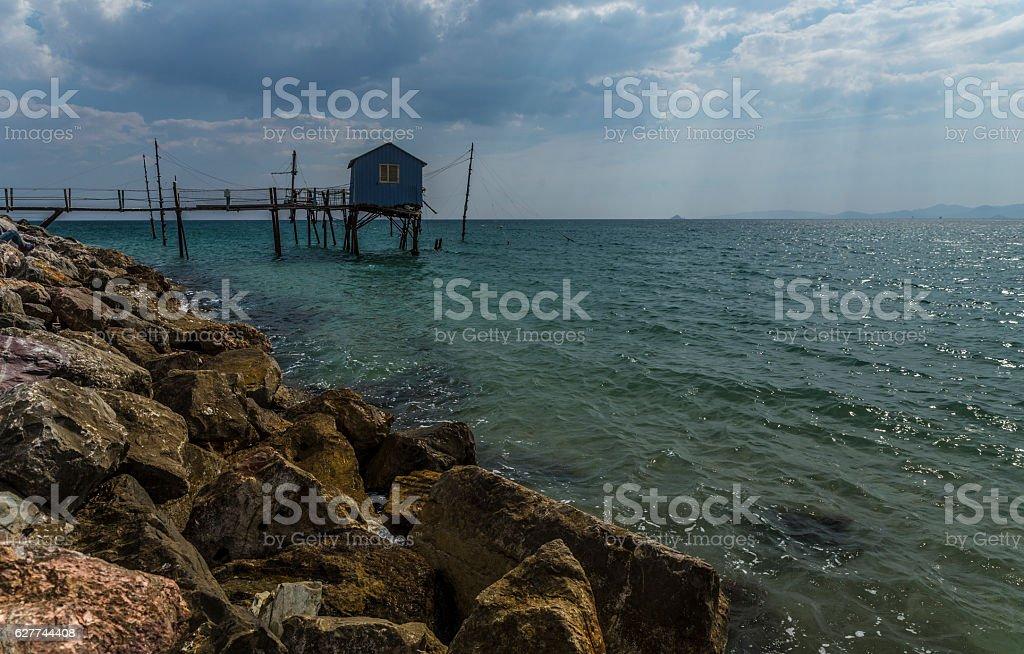 sea hut stock photo