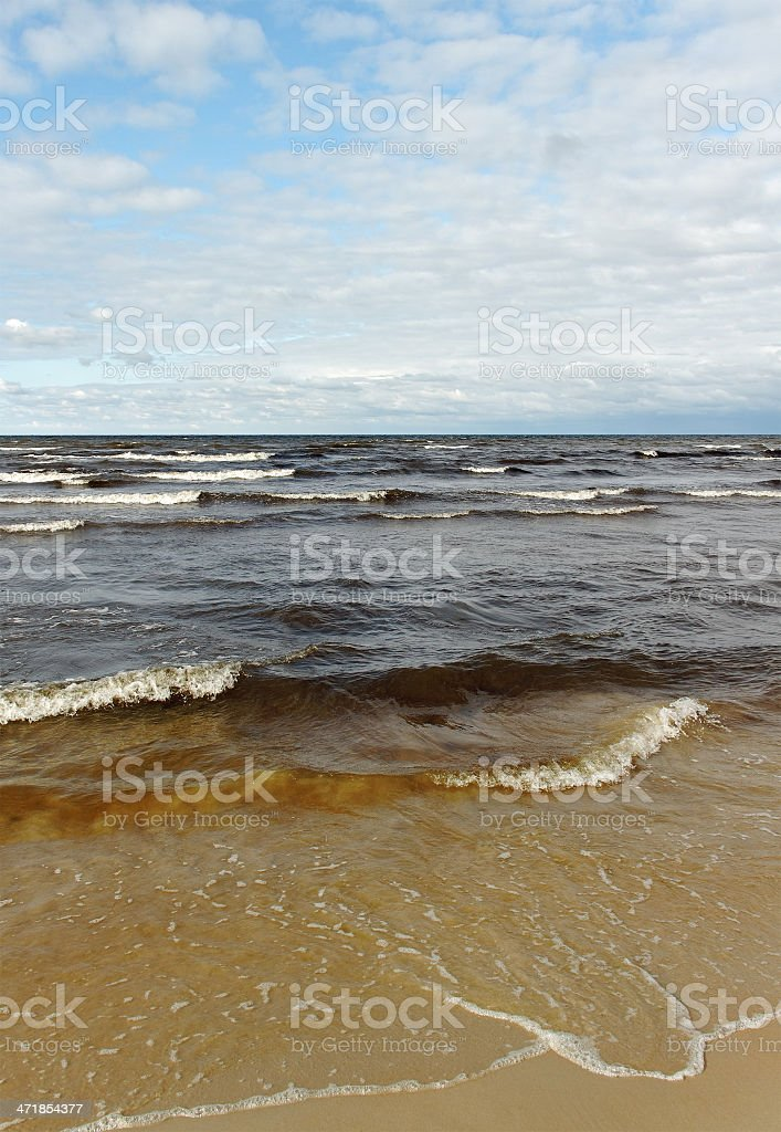 Sea in a cloudy day. royalty-free stock photo