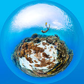Sea in form of sphere