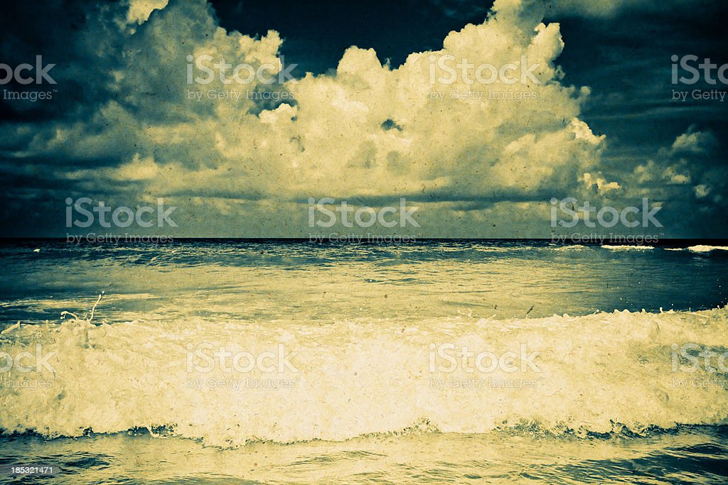 sea in old paper royalty-free stock photo