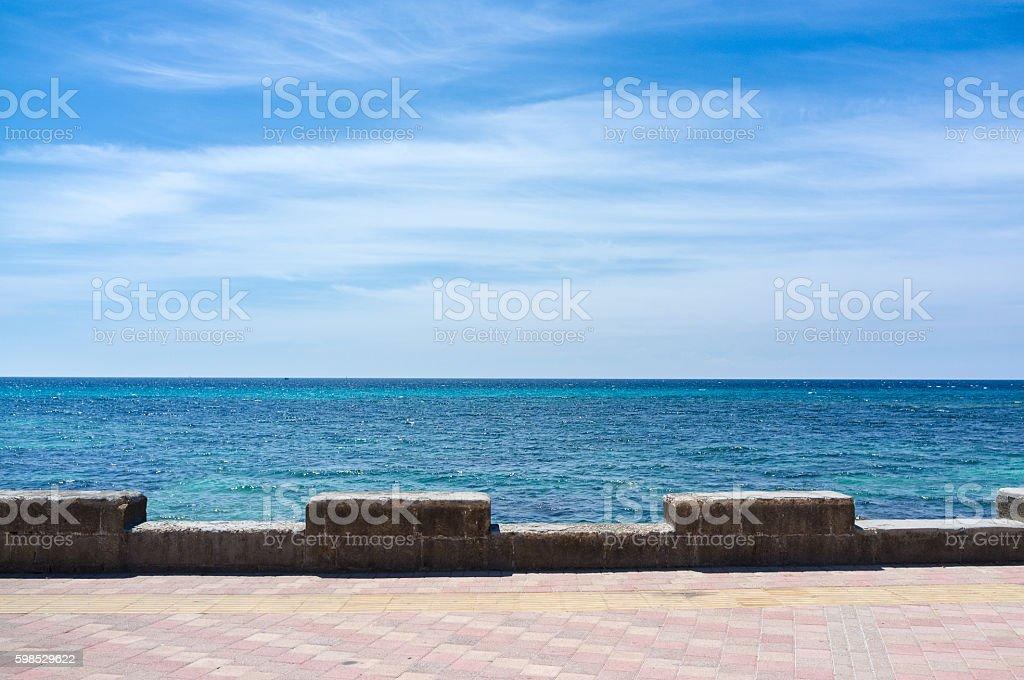 Sea in Salento, Apulia, Lecce, Italy stock photo