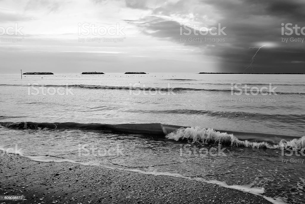 sea in the evening royalty-free stock photo