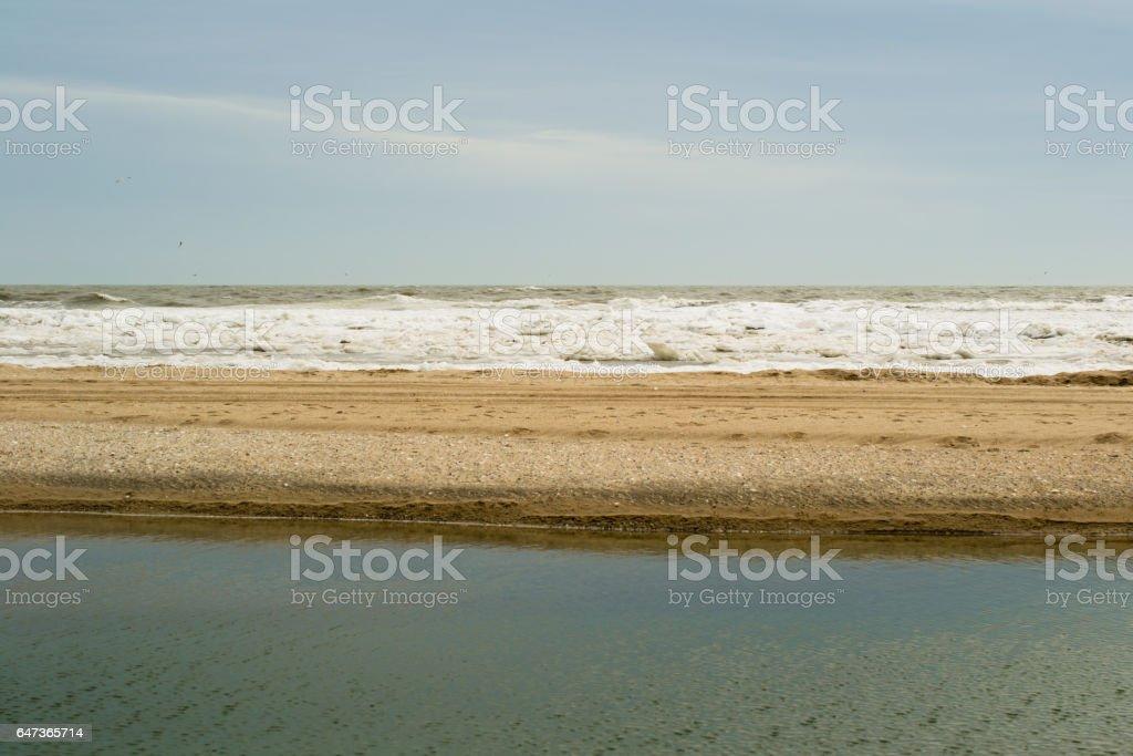 Sea in the winter. stock photo