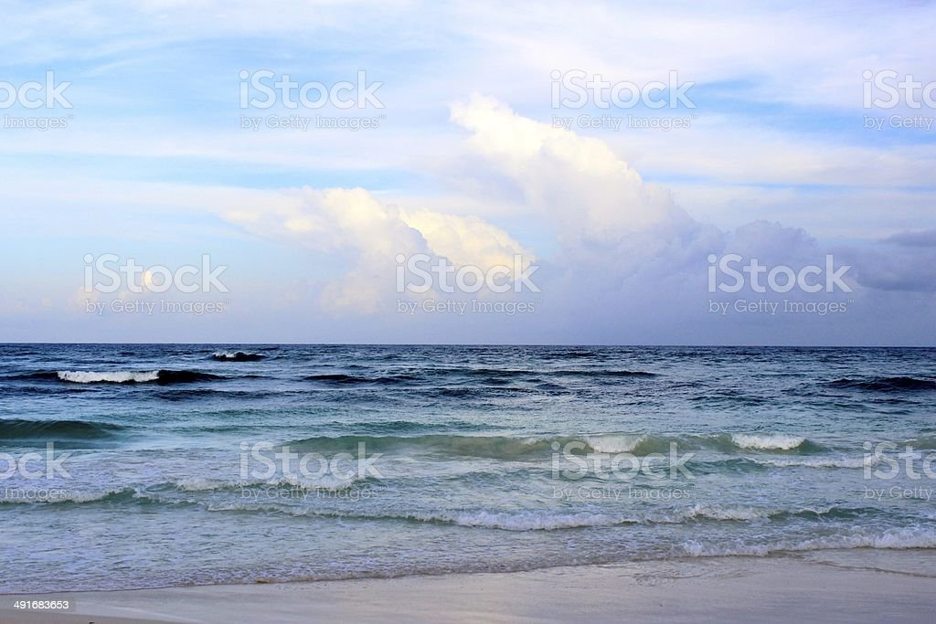 Sea in Tulum, Mexico royalty-free stock photo