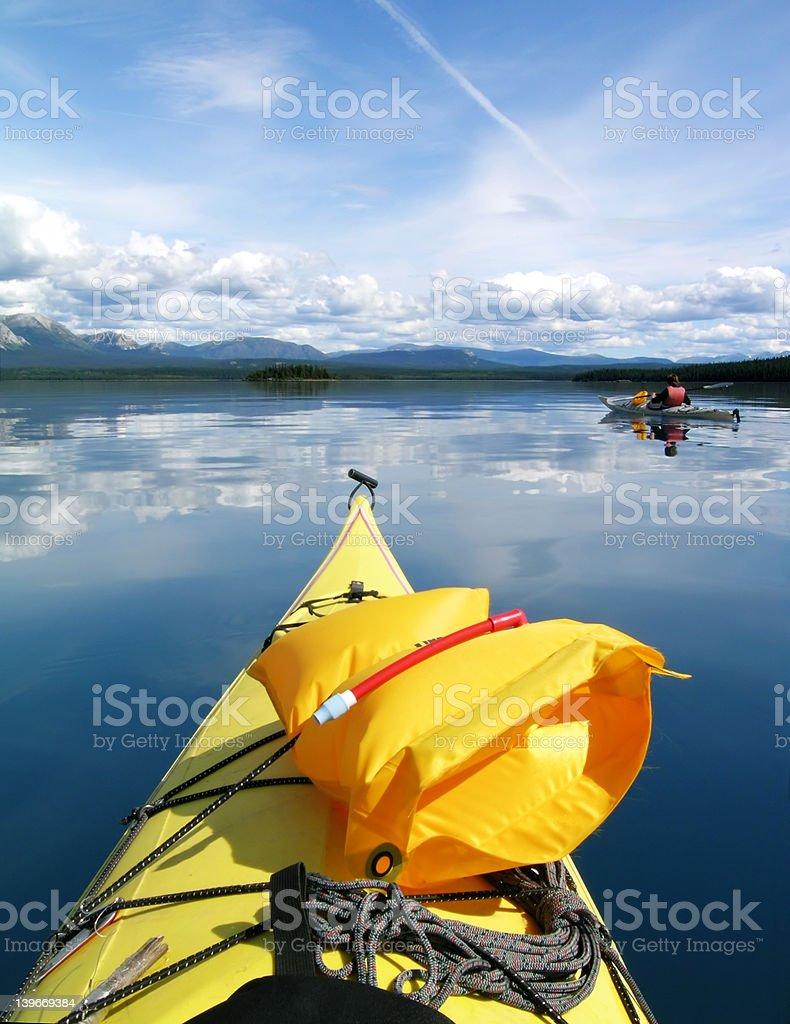 Sea Kayak Tour royalty-free stock photo