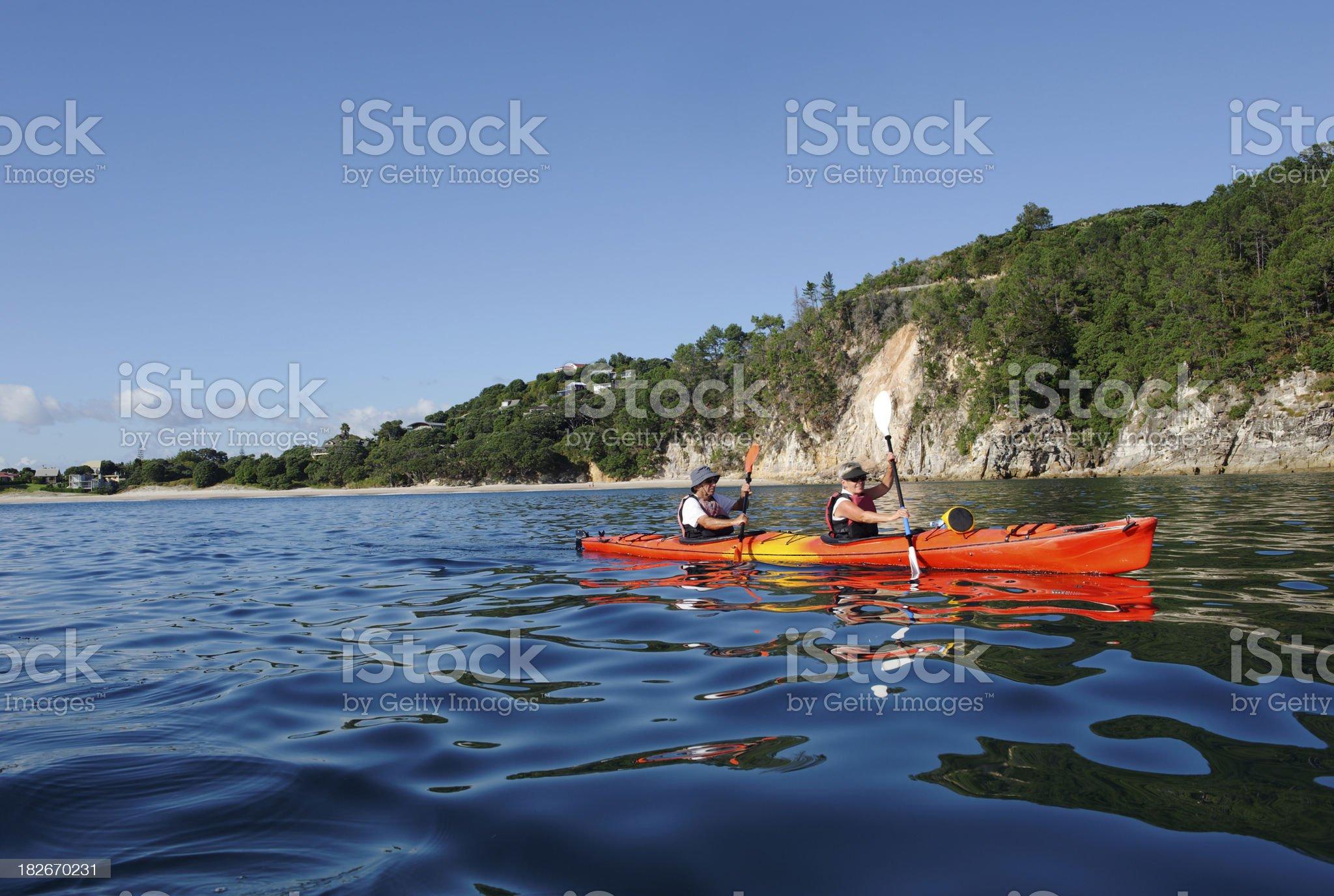 Sea Kayaking royalty-free stock photo