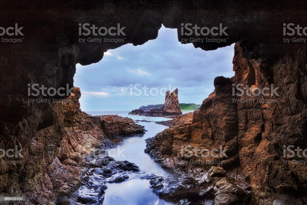 Sea Kiama Cave Hor stock photo