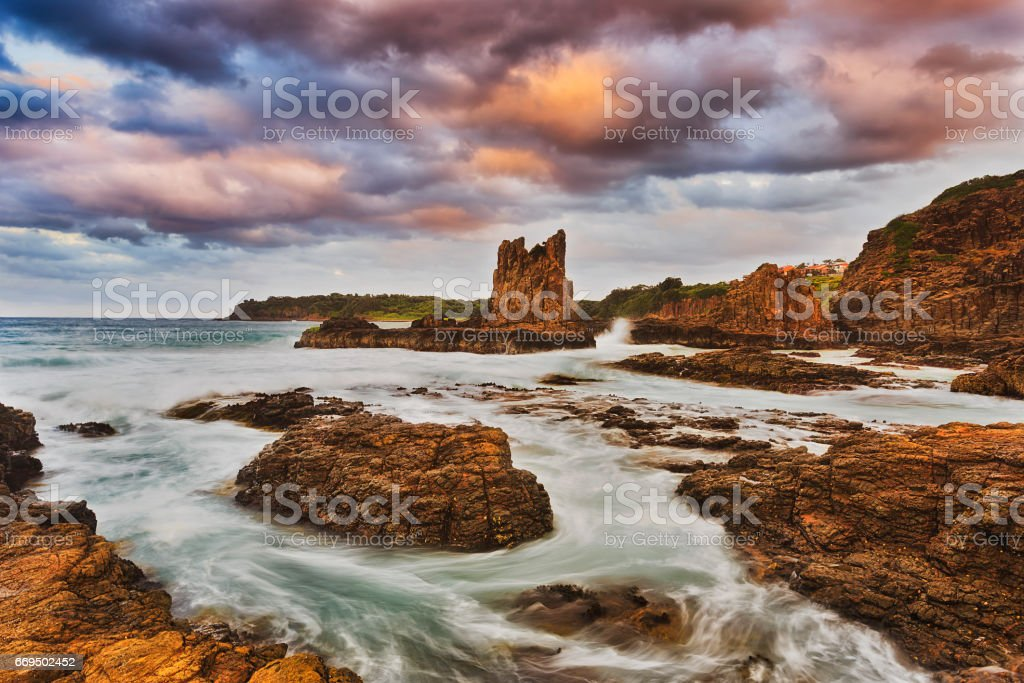Sea Kiama Round Colours stock photo