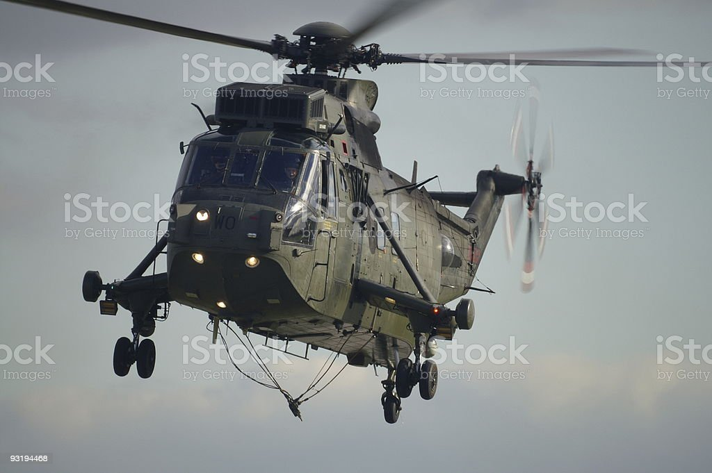 Sea King Helicopter - need a lift? stock photo