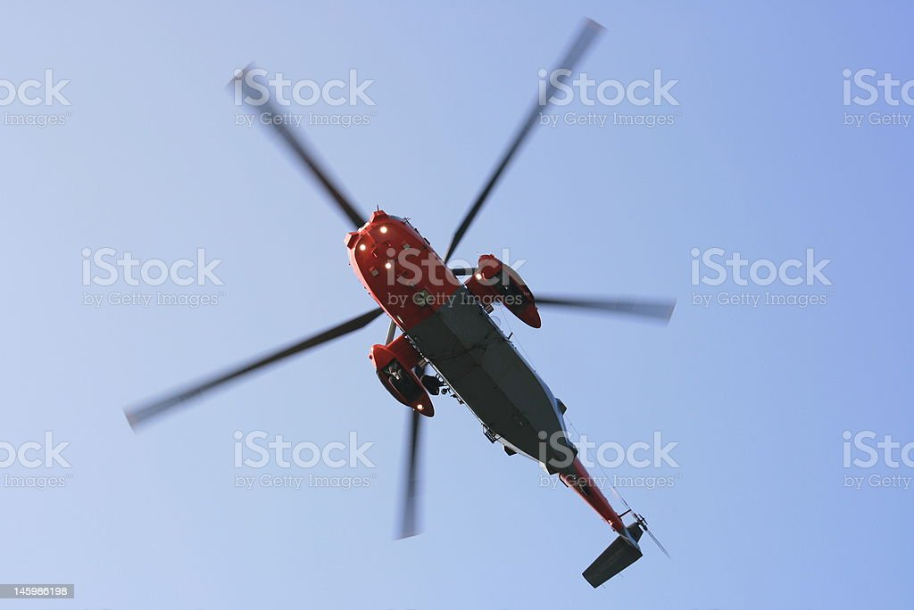 Sea King Helicopter stock photo