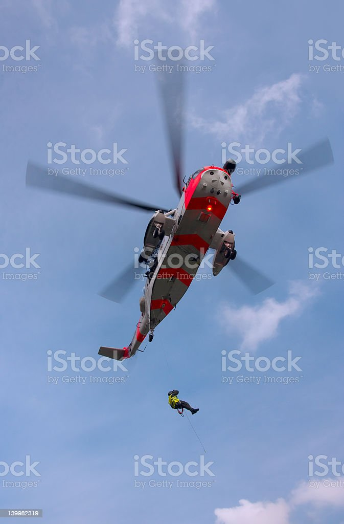 Sea King rescue helicopter stock photo