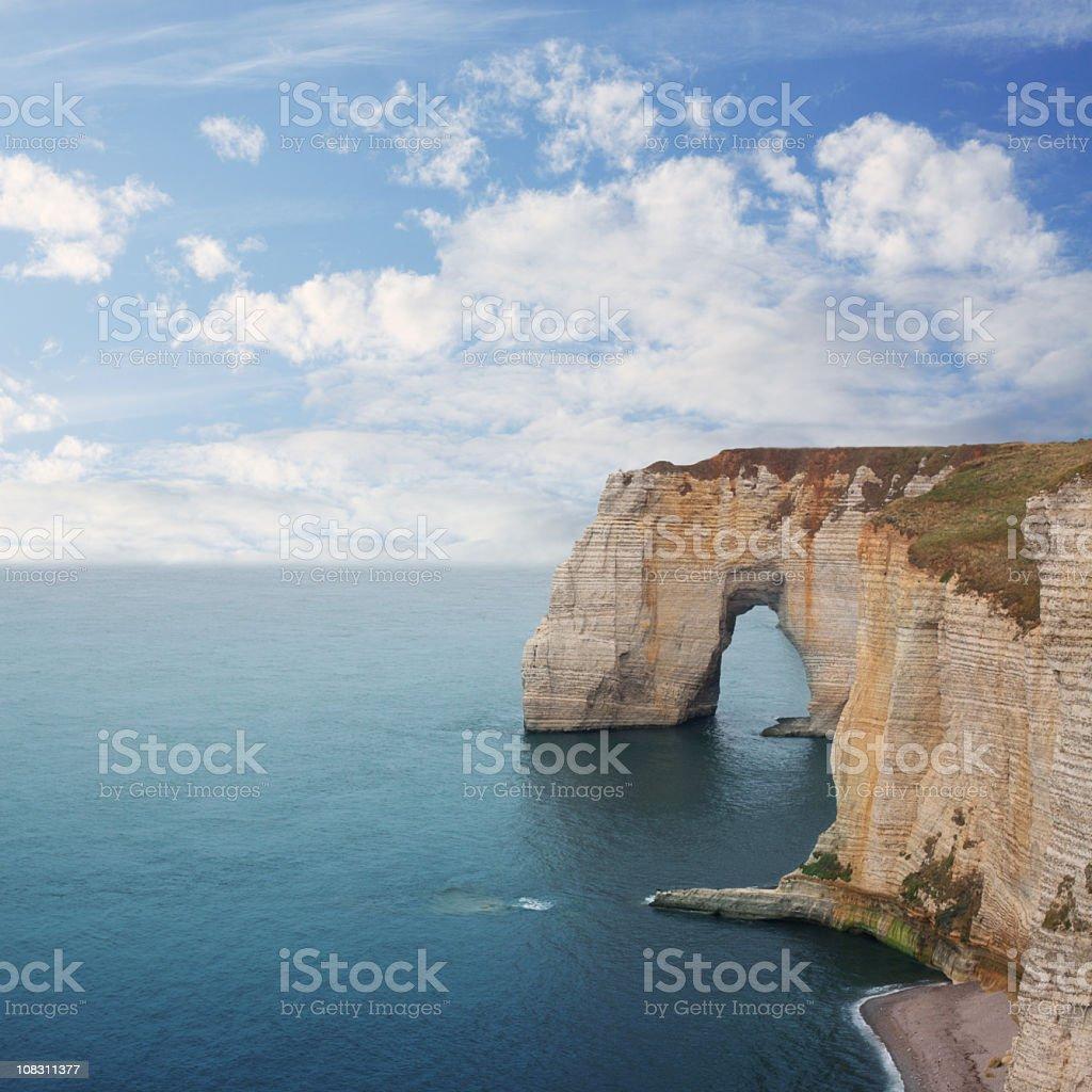 Sea landscape with stone bridge royalty-free stock photo