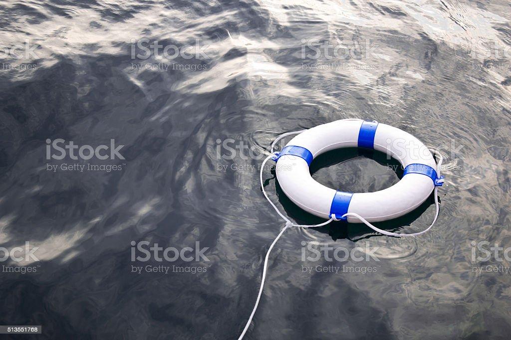 Sea life saver float on the sea stock photo