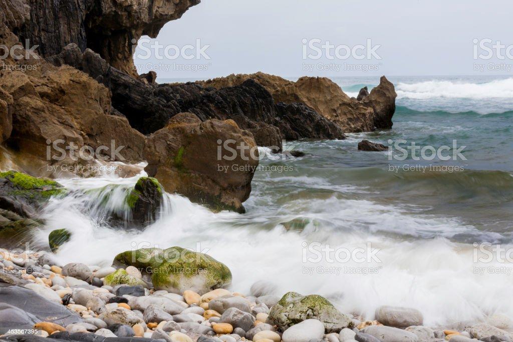 Sea - Long exposure stock photo