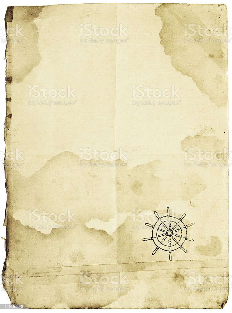 Sea map blank, isolated on white stock photo