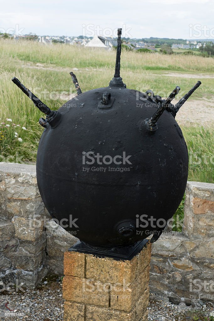 Sea mine stock photo