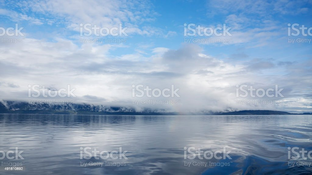 Sea Mist Rising stock photo