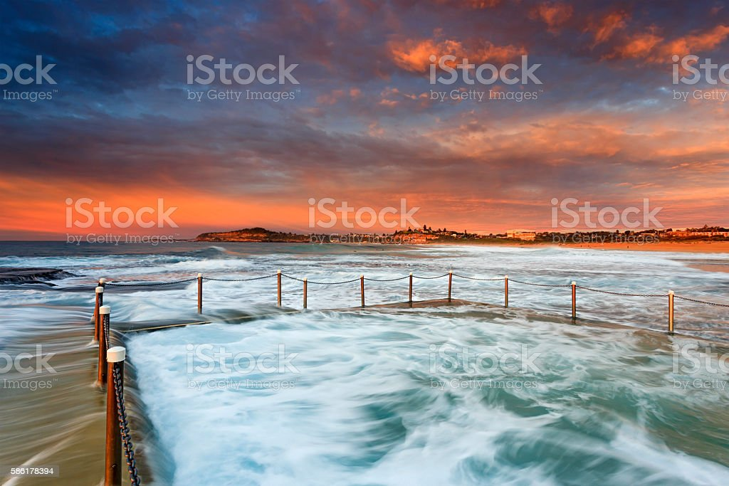 Sea Mona Vale Pool 2 Beach stock photo