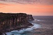 Sea NHead 65 mm cliff sunset