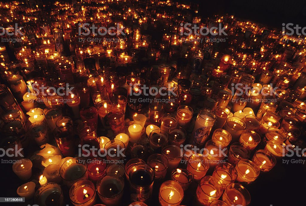 Sea of Candles stock photo