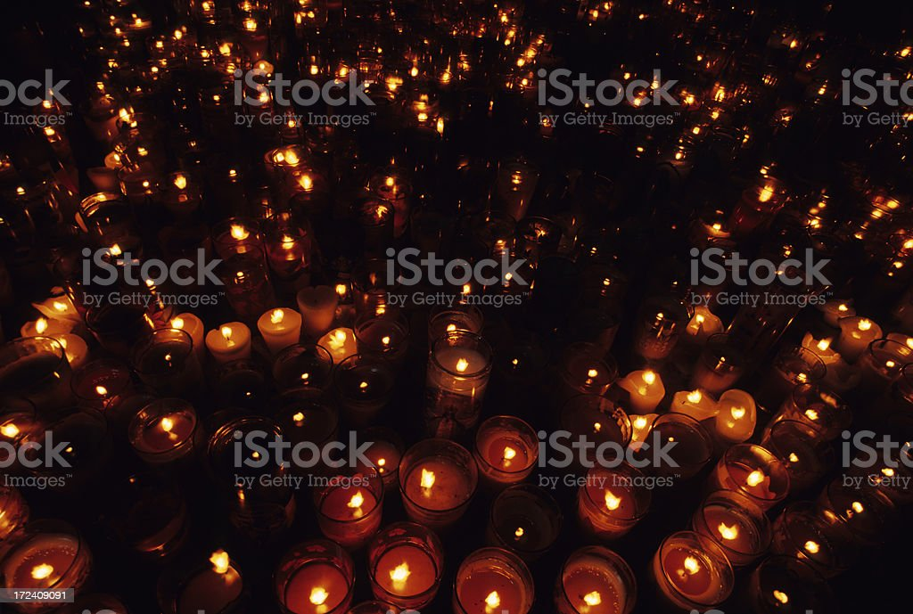 Sea of Candles royalty-free stock photo