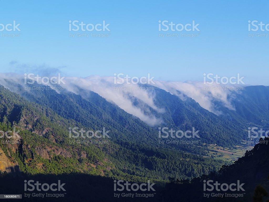 Sea of Clouds on La Palma royalty-free stock photo
