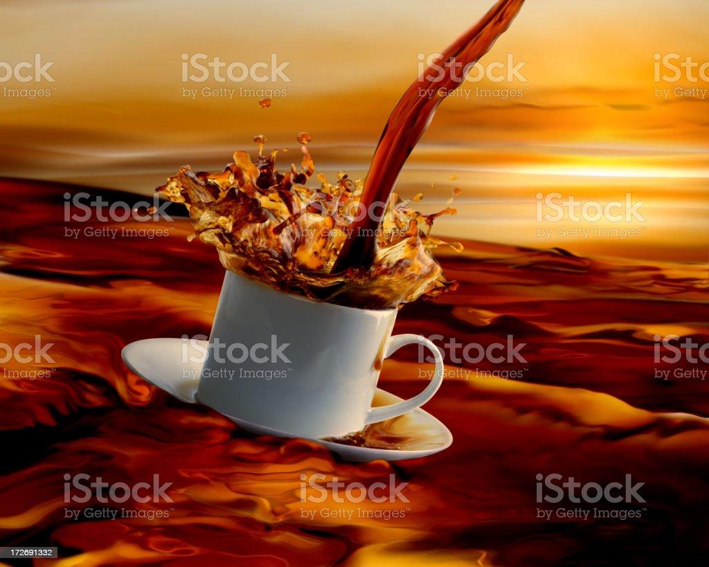 sea of coffee royalty-free stock photo