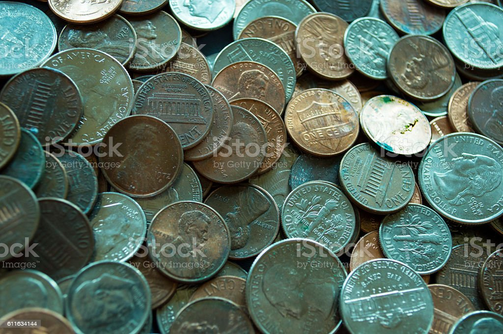 Sea of Coins stock photo